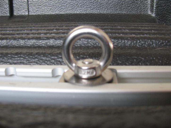 Nutenstein mit Öse - 40mm Edelstahl mit Senkung