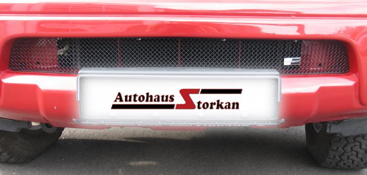 Grilleinsatz unten Nissan Navara 2005-2009 Edelstahl schwarz pulverbeschichtet