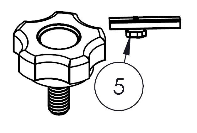 Rändelschraubensatz für Aufstellmechanismus Bakflip