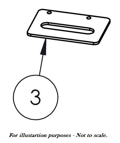 Befestigungsplatte Reling - Cover für Bakflip