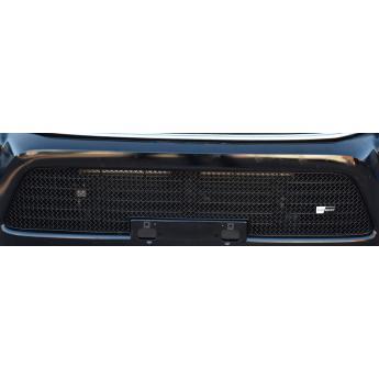 Grilleinsatz unten Toyota Hilux (AN120/AN130) ab 2015 Edelstahl schwarz pulverbeschichtet